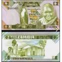 BANCONOTA ZAMBIA 2 kwacha 1986 FDS UNC