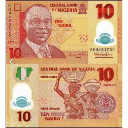 BANCONOTA NIGERIA 10 naira polymer 2014 FDS UNC