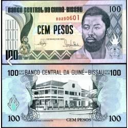 BANCONOTA GUINEA BISSAU 100 francs 1990 FDS UNC