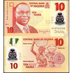 BANCONOTA NIGERIA 10 naira polymer 2011 FDS UNC