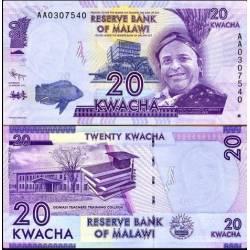 BANCONOTA MALAWI MALAWI 20 kwacha 2012 FDS UNC