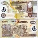 BANCONOTA ZAMBIA 500 kwacha - polymer 2011 FDS UNC