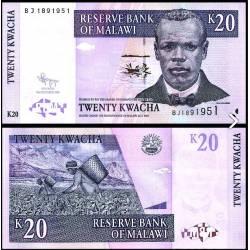 BANCONOTA MALAWI 20 kwacha 2009 FDS UNC