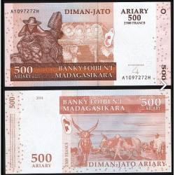 BANCONOTA MADAGASCAR 500 ariary 2008 FDS UNC