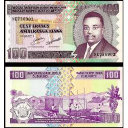 BANCONOTA BURUNDI 100 francs 2011 FDS UNC