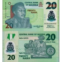 BANCONOTA NIGERIA 20 naira - polymer 2014 FDS UNC