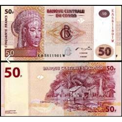 BANCONOTA CONGO 50 francs - 2007 FDS UNC