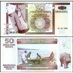 BANCONOTA BURUNDI 50 francs 2006 FDS UNC