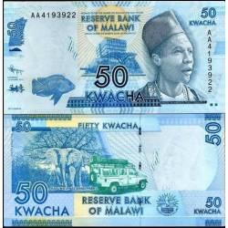 BANCONOTA MALAWI 50 kwacha 2012 FDS UNC
