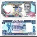 BANCONOTA ZAMBIA 10 kwacha 1989 FDS UNC
