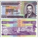 BANCONOTA BURUNDI 100 francs 2001 FDS UNC