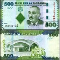 BANCONOTA TANZANIA 500 shilings 2010 FDS UNC