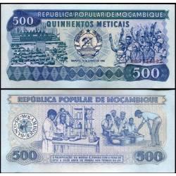 BANCONOTA MOZAMBIQUE 500 meticais 1986 FDS UNC