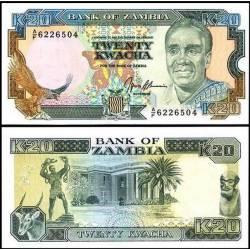 BANCONOTA ZAMBIA 20 kwacha 1991 FDS UNC