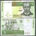 BANCONOTA MALAWI 5 kwacha 1997 FDS UNC
