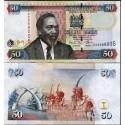 BANCONOTA KENYA 50 shilingi 2010 FDS UNC