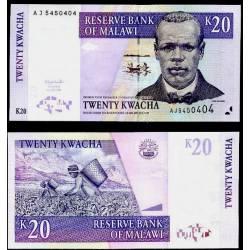 BANCONOTA MALAWI 20 kwacha 2007 FDS UNC