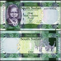 BANCONOTA SOUTH SUDAN 1 pound 2011 FDS UNC