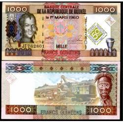 BANCONOTA GUINEA 1000 francs Commemorative 2010 FDS UNC