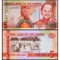 BANCONOTA GAMBIA 5 dalasis 2013 FDS UNC