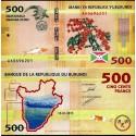 BANCONOTA BURUNDI 500 francs 2015 FDS UNC