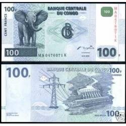 BANCONOTA CONGO 100 francs 2007 FDS UNC