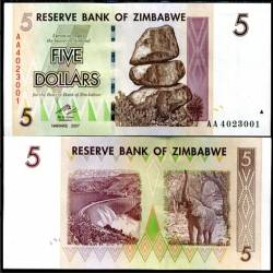 BANCONOTA ZIMBABWE 5 dollars 2008 FDS UNC