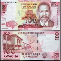 BANCONOTA MALAWI 100 kwacha 2012 FDS UNC
