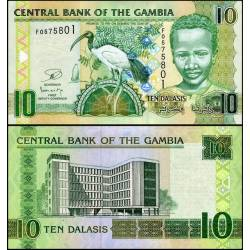 BANCONOTA GAMBIA 10 dalasis 2013 FDS UNC