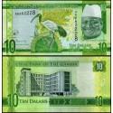 BANCONOTA GAMBIA 10 dalasis 2015 FDS UNC