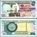 BANCONOTA MOZAMBIQUE 50 escudos 1976 FDS UNC