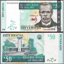 BANCONOTA MALAWI 50 kwacha 2009 FDS UNC