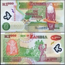 BANCONOTA ZAMBIA 1000 kwacha - polymer 2009 FDS UNC