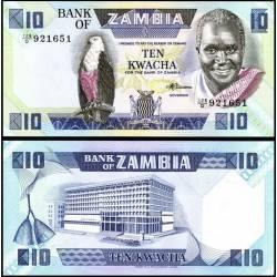 BANCONOTA ZAMBIA 10 kwacha 1988 FDS UNC