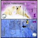 BANCONOTA ARCTIC TERRITORIES 1 polar dollar polymer 2012 FDS UNC