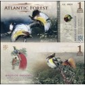 BANCONOTA ATLANTIC FOREST 1 Aves Dollar 2015 FDS UNC