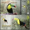 BANCONOTA ATLANTIC FOREST 3 Aves Dollars 2015 FDS UNC