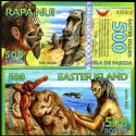 BANCONOTA EASTER ISLAND 500 Rongos Polymer 2012 FDS UNC
