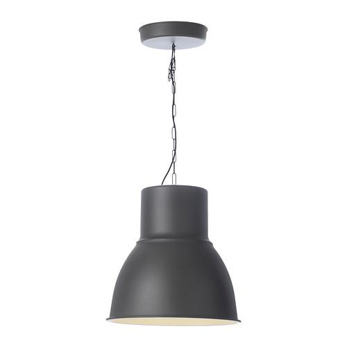 lampada a sospensione 47 cm ikea hektar grigio, salotto bar studio