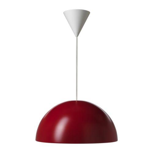 LAMPADA A SOSPENSIONE ROSSO IKEA BRASA 45CM SALA SALOTTO STUDIO ...