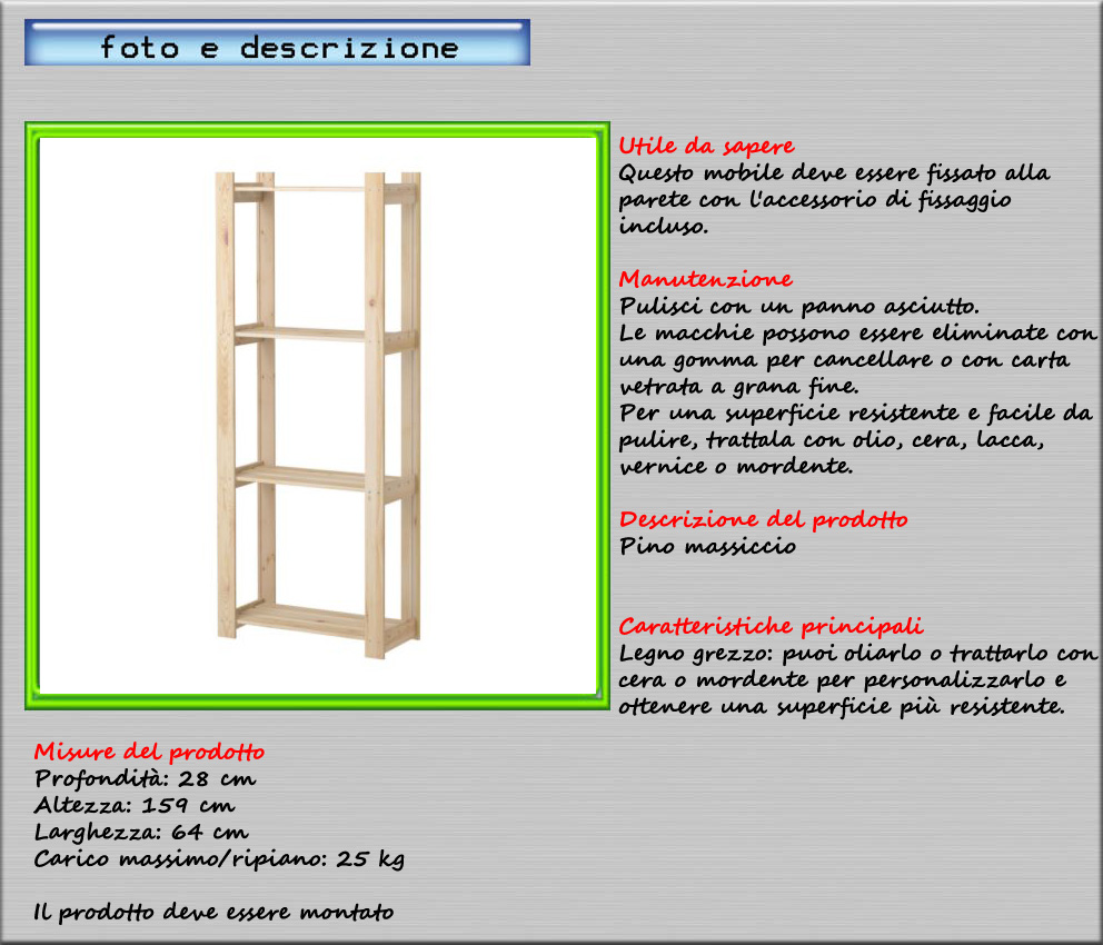Ikea scaffali in legno beautiful ripiani scaffali for Scaffali ikea ivar